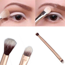 1pcs Makeup Eye Powder Eye Shadow Mixing Two-Sided Brush High Quality NEW High Quality Makeup Rose Gold Eye Powder Mixing 1pcs hot sale 1pcs bb high quality eye sweep brush design for apply eye shadow along the lower lid and creas makeup brushes page 1