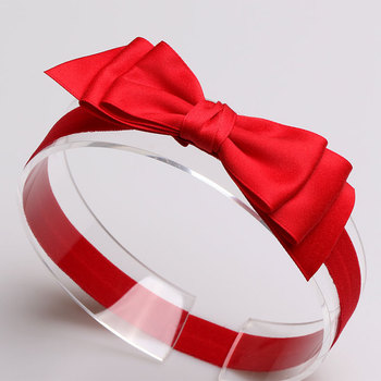 #6106 Red Pink White Headbands Ribbon Bow Knot Elastic Bandage On a Head Cute Girls Hair Bands