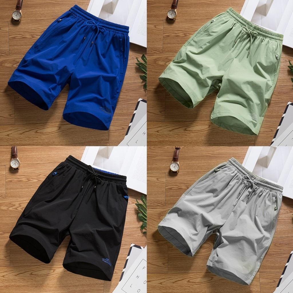 2019 Swimwear Men's Hawaiian Tree Trunk Speed Solid Color Beach Surf Running Pool Shorts Men 7.12(China)