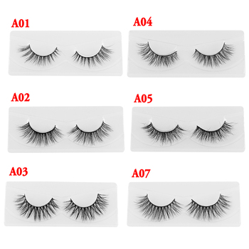 1 Pair Lash Mink Eyelashes 3D Mink Hair Lashes Wholesale Real Mink Fur Handmade Crossing Lashes Thick Lash Makeup Tool