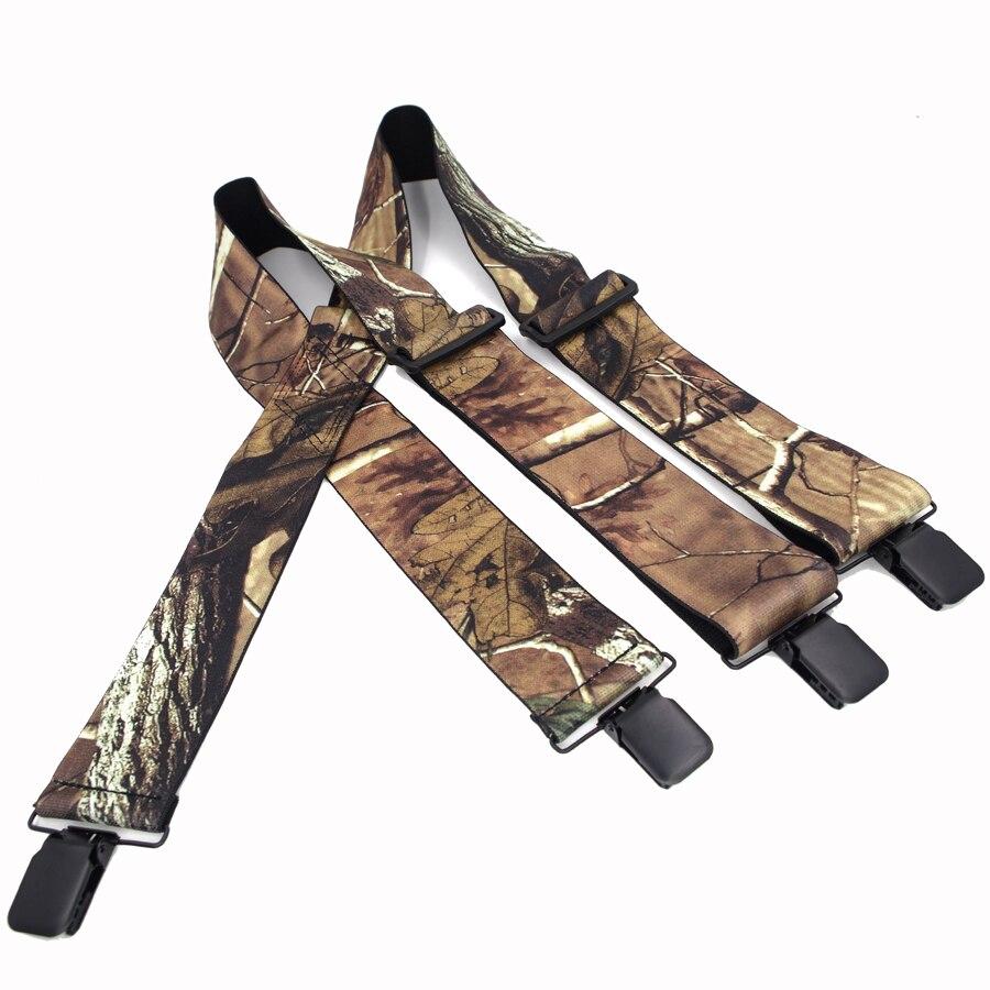 Jungle Suspenders Camouflage Suspenders Braces  Vintage Outdoor Straps Bretelles Adult 4clips SuspensorioTirantes 5*120cm