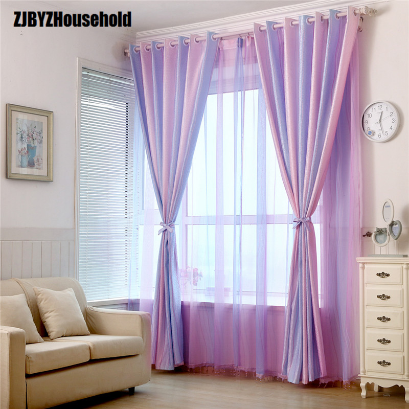 Magic Color Bar Highly Upset Gradient Printed Jacquard Curtains for Living Dining Room Bedroom curtain styles for large windows jacquard fabric curtain jacquard curtain - title=
