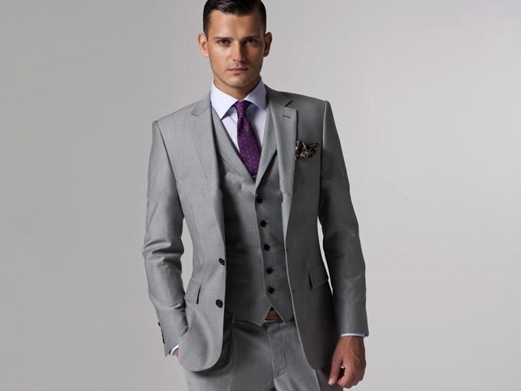 Online Get Cheap Light Grey Wool Suit Slim Fit -Aliexpress.com ...