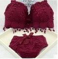 Hot venda Nova marca tamanho grande sexy push up bra set bordado floral lace mulheres cueca conjunto de sutiã e calcinha