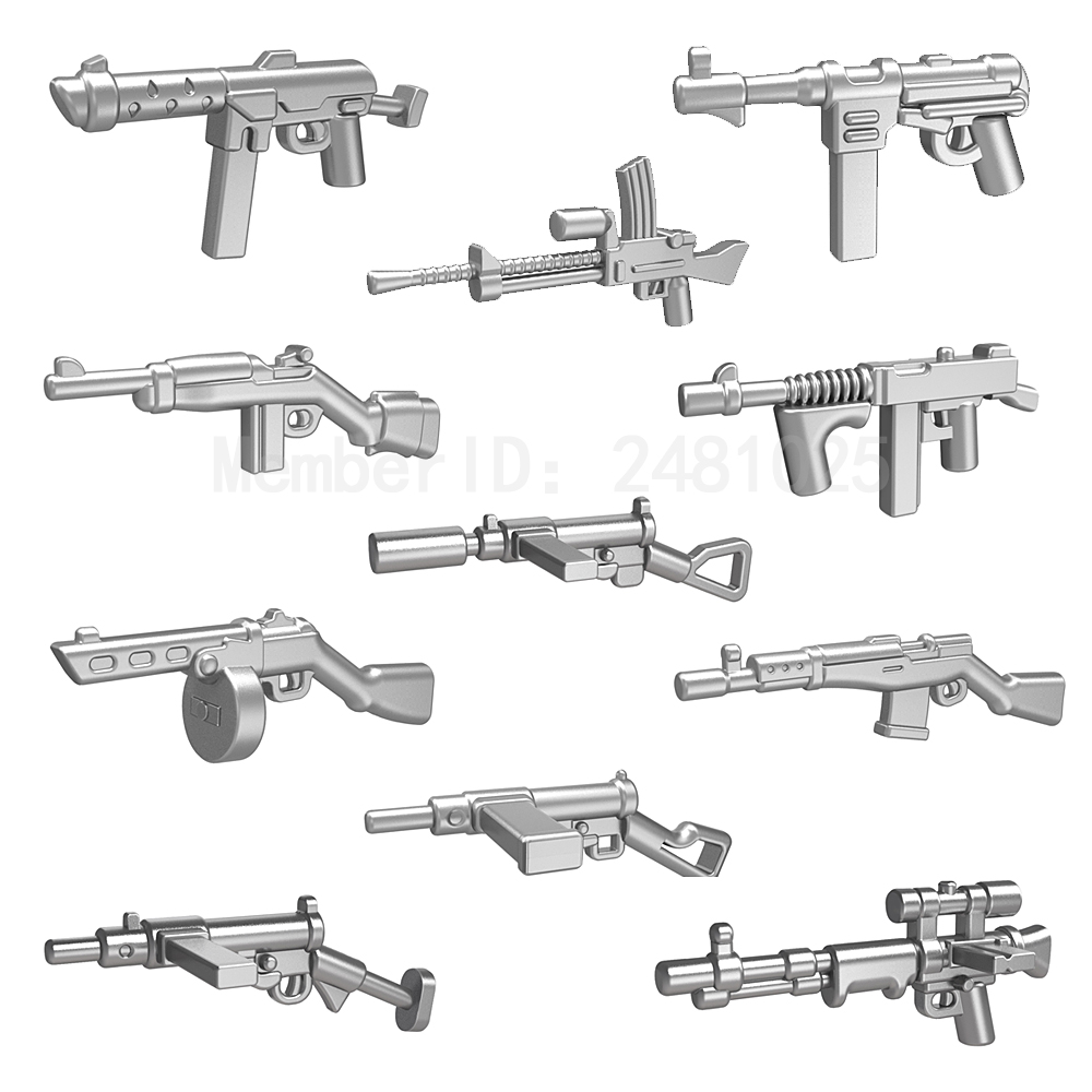 10pcs/set Pog Weapon Gun Second World War DIY Super Heroes Building Blocks Sets Model Bricks Toys for Children Compatible Pogo xinlexin 317p 4in1 military boys blocks soldier war weapon cannon dog bricks building blocks sets swat classic toys for children