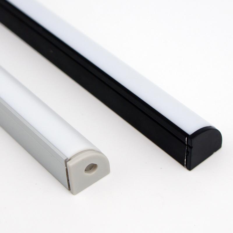 ФОТО SamCreating  9.9ft/3M 50Pack(495ft/150M) Black V Shape LED Aluminum Channel Internal width 12mm with White Diffuser Cover