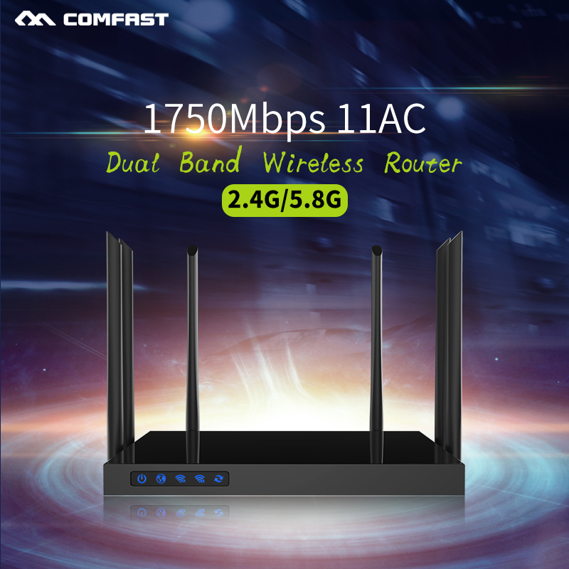 Comfast CF-WR650AC 1750Mbps AC WIFI Router 2.4G+5.8G Enginering AC Manage router 1Wan 4Lan 802.11ac access point wi fi router comfast full gigabit core gateway ac gateway controller mt7621 wifi project manager with 4 1000mbps wan lan port 880mhz cf ac200