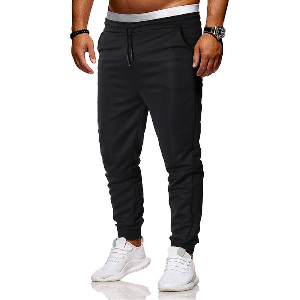 New Design Cotton Elastic Band Pocket Pinch Sports Pants Breathable Yoga Work Out Black Casual New Trousers M-5XL Pants W620