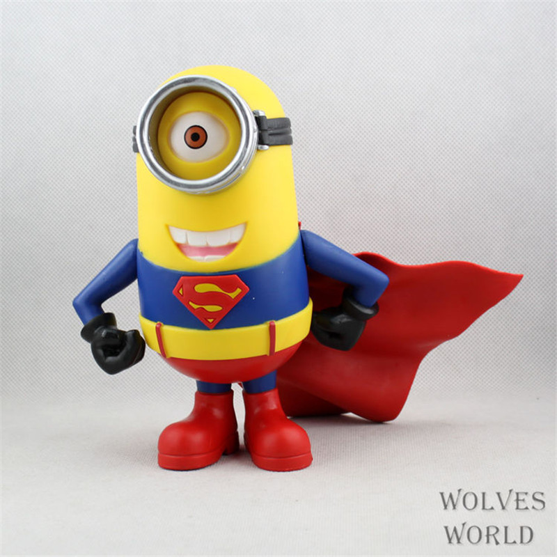 WVW 20CM The Avengers Minions Captain America Batman Iron Man Thor Model PVC Toy Action Figure Decoration For Collection Gift new hot 16 22cm avengers thor iron man hulk captain america movable action figure toys collection doll christmas gift with box