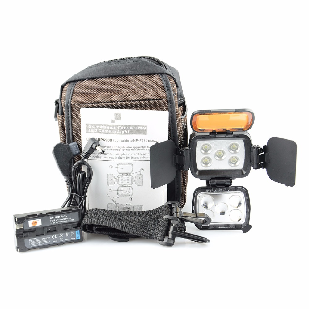 ФОТО DSTE VL002A 5-LED Video Light 100000 Hours Long Life + NP-F550 For SONY DSLR Camera Camcorder DV Dimmable LAMP 4500K/3200K