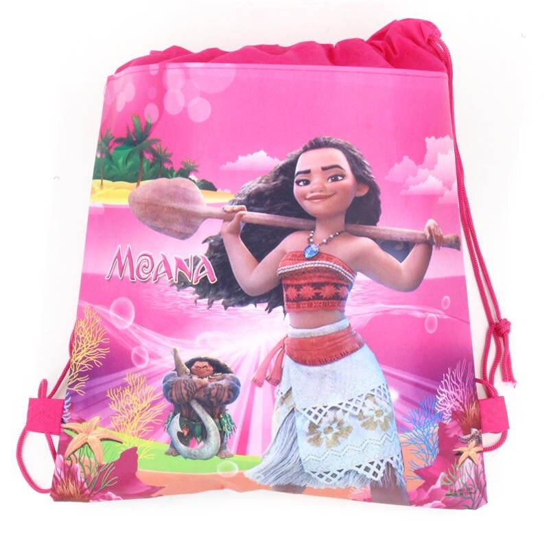 12pcs LOL Moana Minnie Drawstring Backpack Girls Birthday Party Goody Gift Bag
