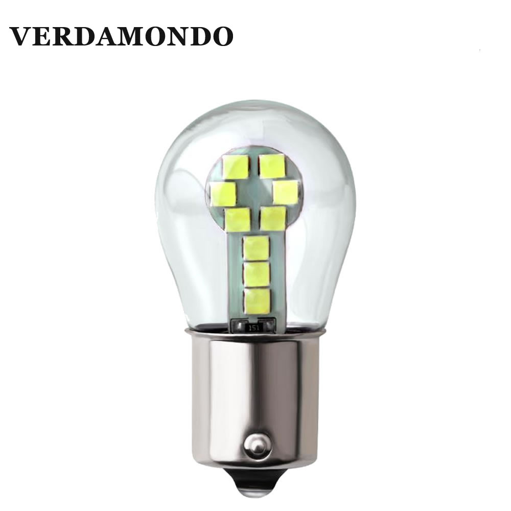 1 Pcs 1156 BA15S 1157 BAY15D 18 SMD 3030 LED Light Turn Signal Bulb Brake Lights White Yellow Red DC 12V