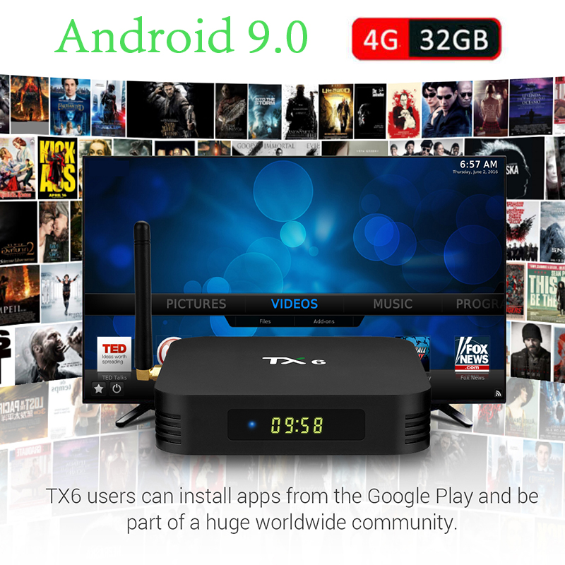Tanix TX6 Android 9 0 Smart TV BOX IPTV Set top box 4GB 32GB Allwinner H6  1080P 4K Dual WiFi Bluetooth 4 1 Media Player