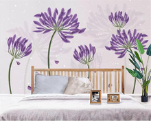 beibehang Custom photo 3d wallpaper Small fresh lavender Flower landscape Living room sofa background wall 3d wallpaper mural beibehang custom wallpaper mural 3d blue flower hotel living room wall 3d wallpaper wall sticker wallpapers for living room