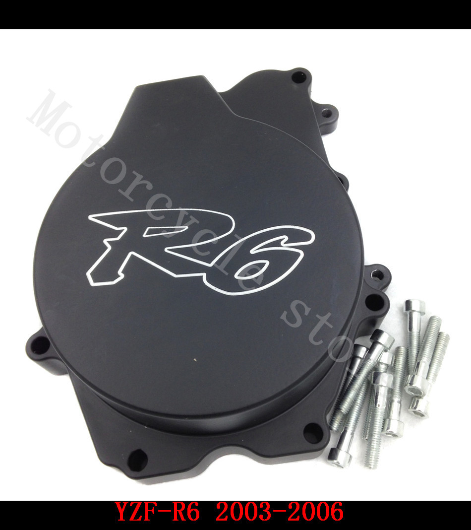 Fit for Yamaha YZFR6 YZF-R6 2003 2004 2005 2006 YZFR6S R6S 2006 Motorcycle Engine Stator cover Black left side for yamaha yzfr6 yzf r6 2006 2007 2008 2009 2010 2011 2012 2013 2014 motorcycle engine stator cover chrome left side