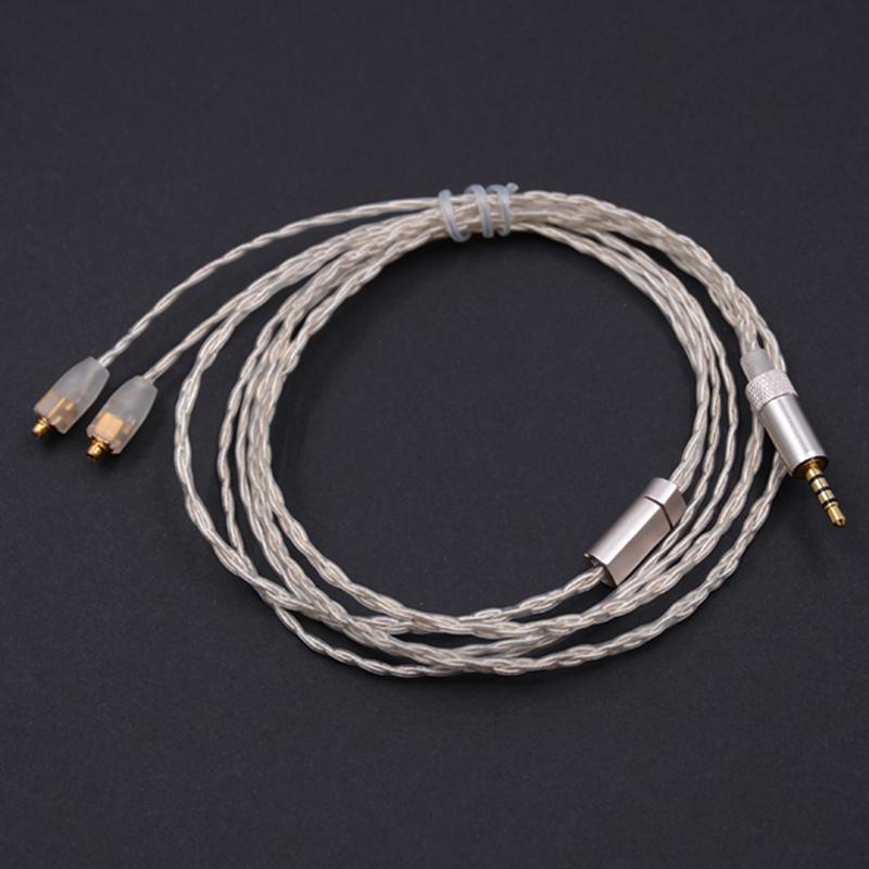Prix pour NICEHCK Haute Qualité 2.5mm Équilibrée 4-Cores Pur Argent Écouteurs MMCX Câble 4-Pole Jack Plug Utiliser Pour Astell & Kerns ONKYO OPUS DAP