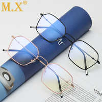 High Quality Anti Blue Light Glasses Men Reading Goggle Ray Protection Eyeglasses Gaming Computer Glasses for Women Alloy Frames