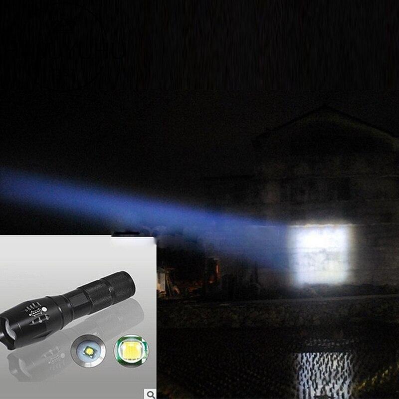 LED Rechargeable Flashlight Pocketman XML T6 linterna torch 4000 lumens 18650 Battery Outdoor Camping Powerful Led Flashlight in LED Flashlights from Lights Lighting