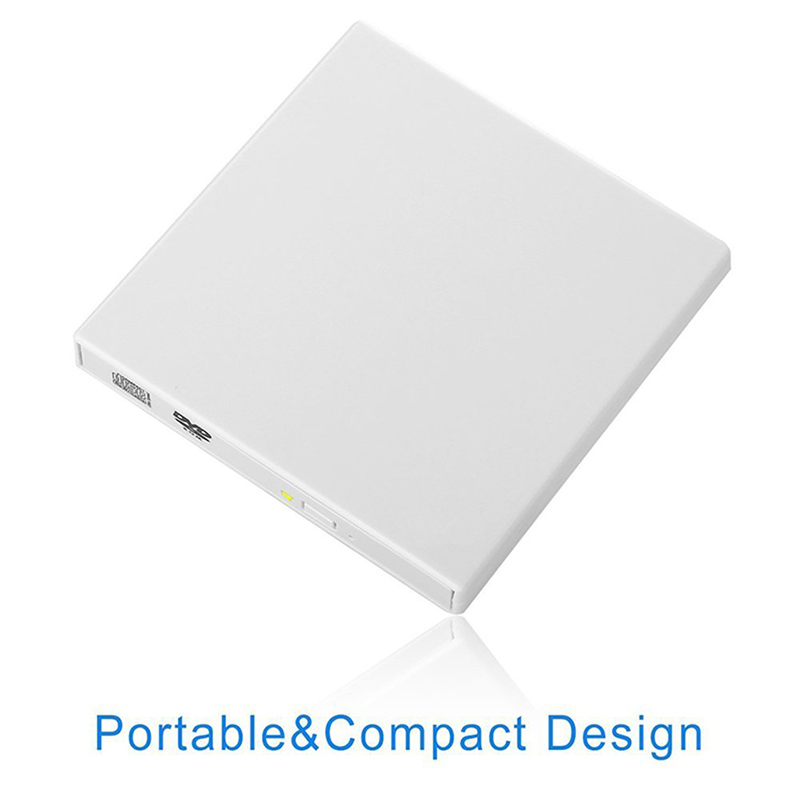 Kuwfi USB 2.0 External DVD Optical Drive Combo CD RW Burner DVD/CD ROM Player Portatil For Laptop Windows 7/8/10 MAC OS