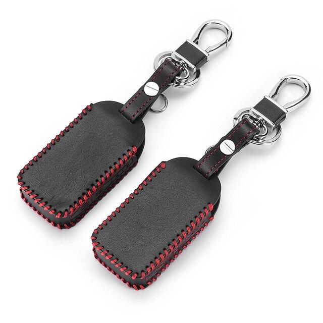 E60 E90 Hand Sewn Leather Key Cover Cases For StarLine E90 E60 E63 E93 E95 E66 E96 LCD Remote Controller Transmitter