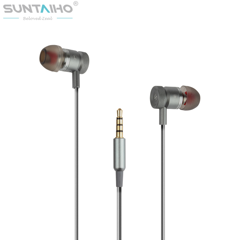 Suntaiho S3 3.5mm In-Ear Earphone Earbuds Super Clear HIFI Metal Earphone With MIC For iPhone Xiaomi Samsung Meizu Mobile Phones