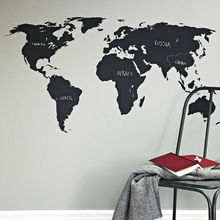 PCS200x90cm Big Global World Map Vinyl Wall Art Decal Sticker office bedroom living room decor