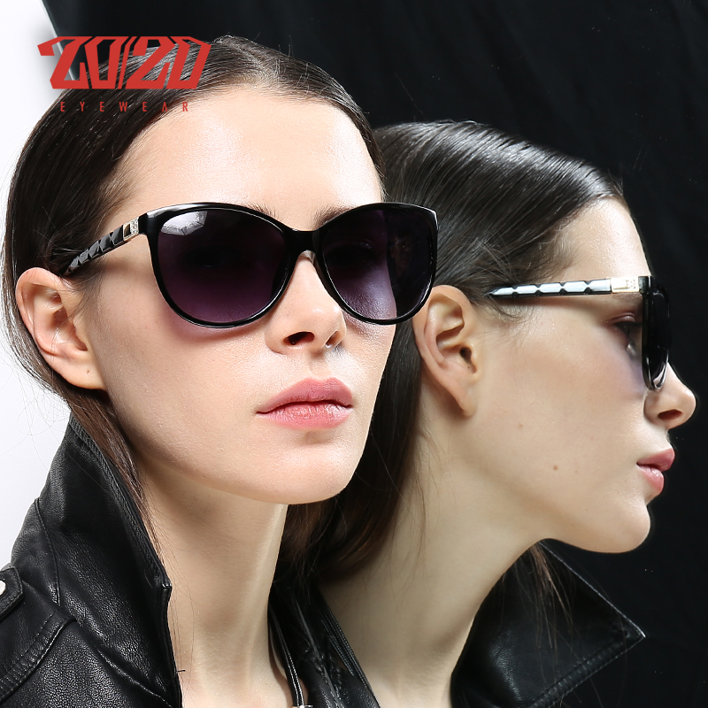20/20 Donne di Disegno di Marca Cat eye Occhiali Da Sole Femminile Stile Retrò Occhiali Polarizzati Shades UV400 Oculos de sol Feminino PL337