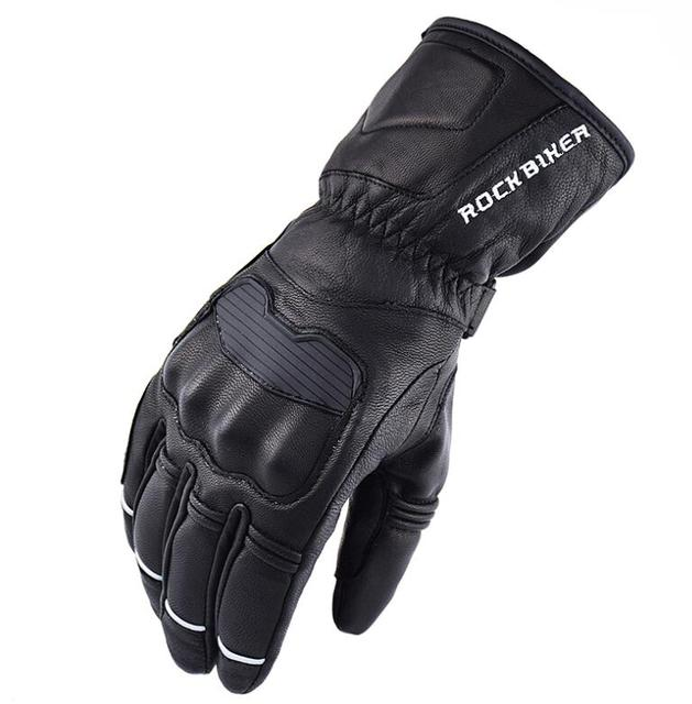 ROCK BIKER 2017 Revit winter warm waterproof gloves Motorcycle gloves cycling gloves Guantes moto invierno leather Gants M-XXL