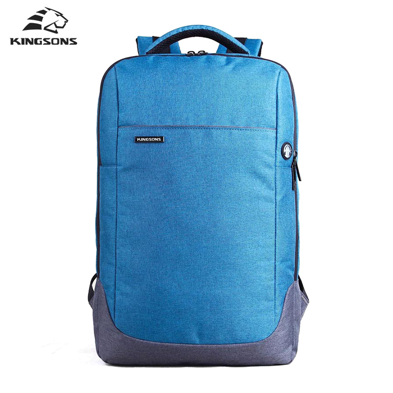 Kingsons Brand Nylon Waterproof Laptop Backpack Men Women Computer Notebook Bag 15.6 inch Laptop Bag School Bags KS3113W 14 15 15 6 inch flax linen laptop notebook backpack bags case school backpack for travel shopping climbing men women