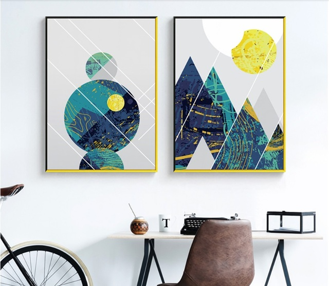 Into the Wild Mountains Wall Art Canvas for Kids Room