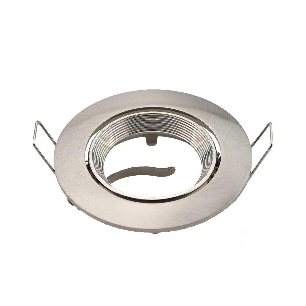 Pack de 2/de techo foco l/ámpara de foco GU10//MR16/Socket Base Trim anillos accesorios aluminio