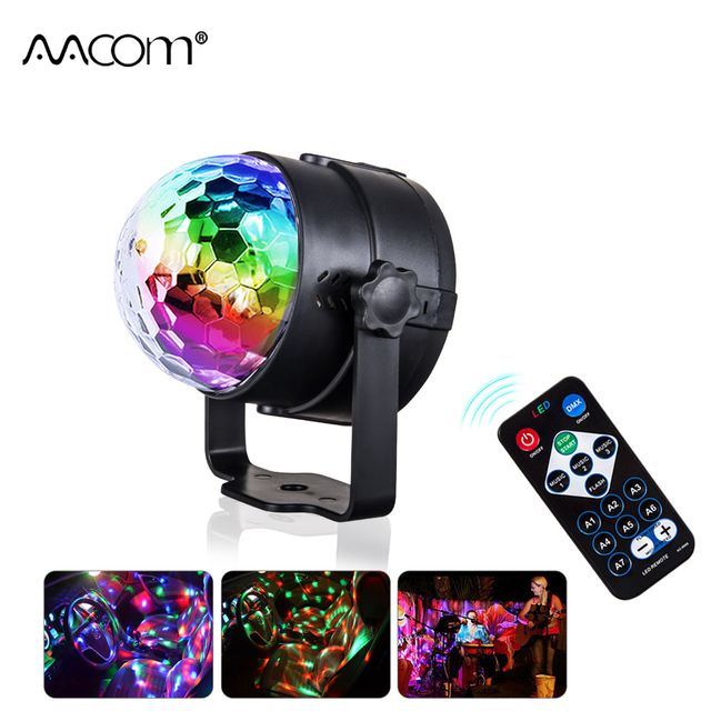 rgb led holiday light colorful disco ball party stage light music speaker with ir remote controller