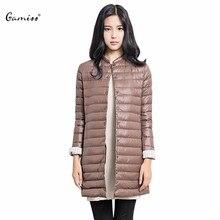 Gamiss Casual Ultralight Down Coat Women Winter Jacket Women's Down Jackets Long Thin Down Coat