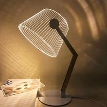 HZFCEW Simple Nordic Style LED Night Light 3D Acrylic Creative Table Lamp Bedside Decoration Desk Lamp FR124