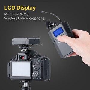 Image 3 - Mailada WM8 Professionelle UHF Wireless Mikrofon System Video Aufnahme Lavalier Revers Mic für iPhone DSLR Recorder Interview