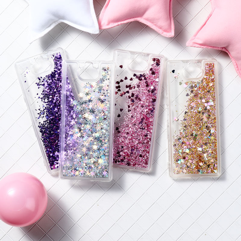 Liquid Silicone Case For <font><b>Sony</b></font> Xperia XA3 Case Quicksand Soft Cover For <font><b>Sony</b></font> L3 10 L1 L2 XZ4 XA2 Ultra Z5 Cover Coque Fundas image