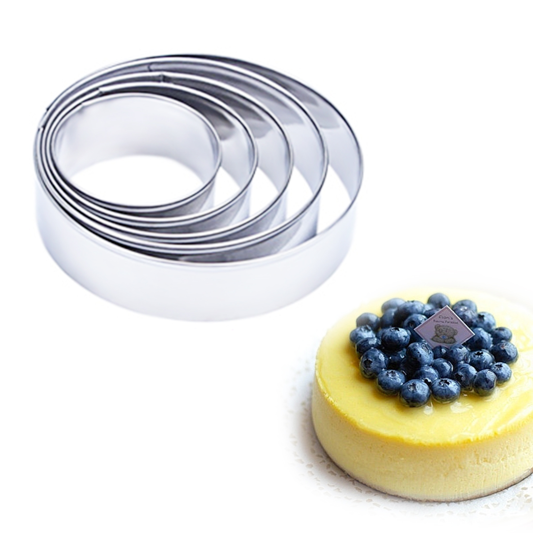 Home & Garden Amiable 5pcs/set Round Circle Shape Metal Cookie Cutter Kitchen Bakeware Birthday Fondant Cake Mold Chocolate Stencils Baking Tools Comfortable And Easy To Wear