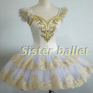 Ballet-Tutu Performance-Ballet Classical Customized Professional Gold White