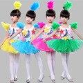 Костюмы для Выступлений детских Современный Танец Блестками Платья детский Производительность Одежда детская Танец