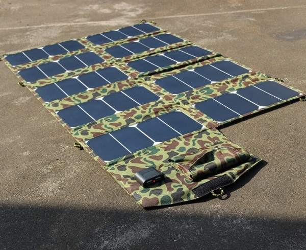 Sunpower High Performance Solar Cell Foldable Solar Panel Battery Charger DC21V Dual USB5V Output Outdoor Use