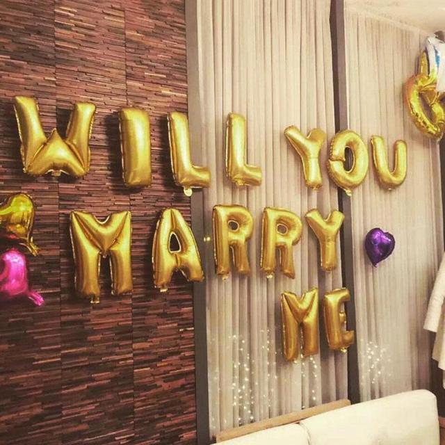 Brief Ballons Werden Sie Mich Heiraten Valentine Aluminium Helium ...