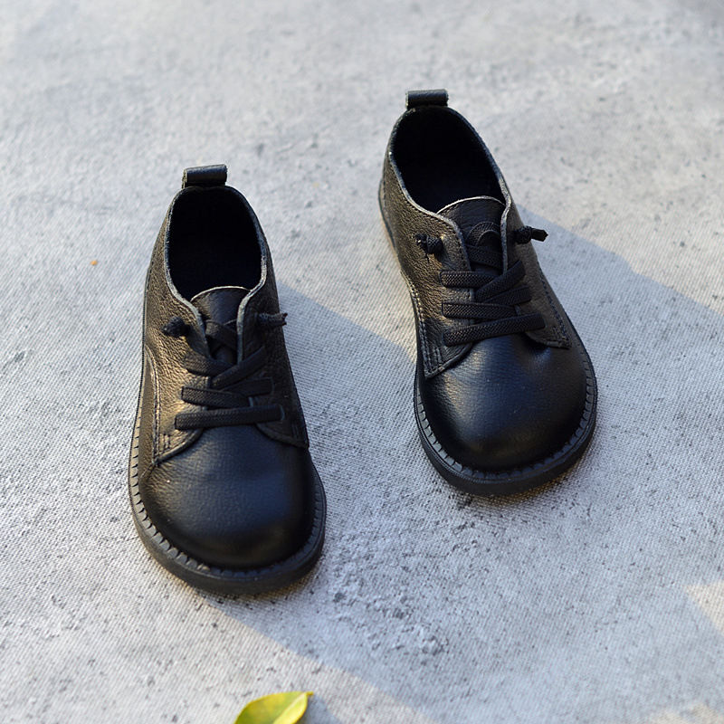 2018 Пояса из натуральной кожи Обувь для мальчиков Обувь кожаная для девочек Оксфорд Обувь Детская Мода школа Обувь дети тапки Размеры 26 36