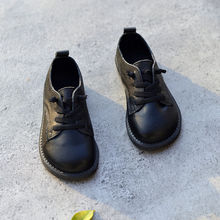 Mother Kids - Childrens Shoes - 2018 Genuine Leather Boys Leather Shoes Oxford Shoes Fashion Children's School Shoes Children Sneaker Size 26-36