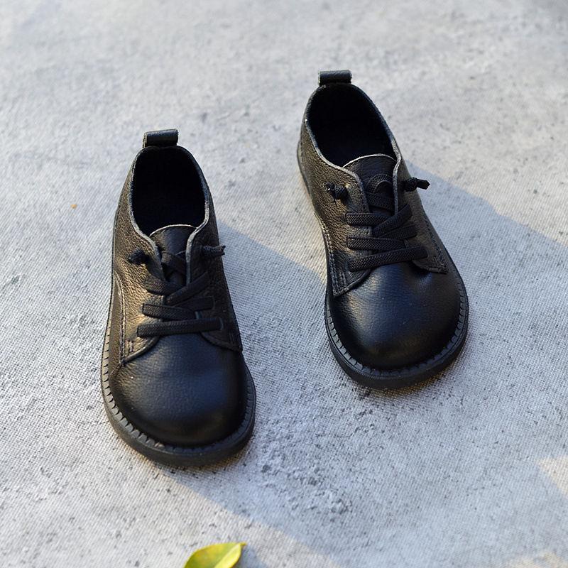 Genuine Leather Boys Shoes Oxford Fashion Childrens school Children Sneaker Size 26-36