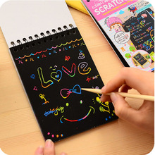 2017 Magic Drawing Book For Children Creative Scratch Art Notes School Supplies Free Shipping Novel Stationery