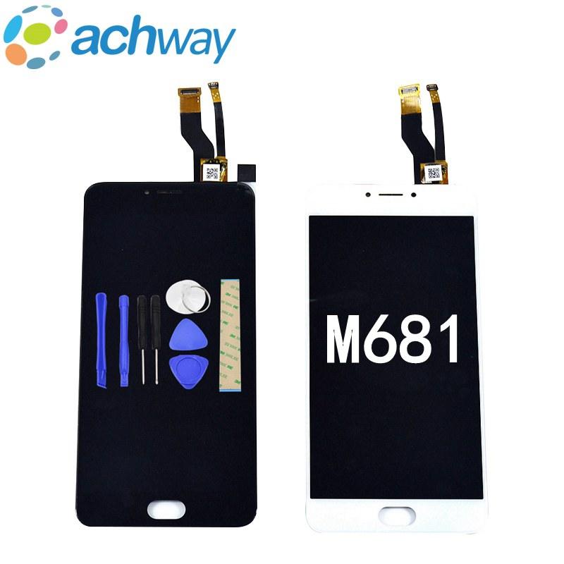 Prix pour Meizu m3 note m681h lcd affichage à l'écran tactile digitizer assemblée meizu m681h lcd m3 note l681h affichage pièces de rechange + outils