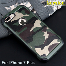 """Case for iPhone 7 Plus 5.5"""" 2in1 Armor Hybrid Plastic+TPU Army Camo Camouflage Rear with Special Shockproof Angle Phone Cover"""
