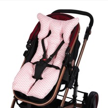 Baby Printed Stroller Pad Booster Seat Warm Pillow Case Child Carriage Cart Thicken Trolley Chair Cushion