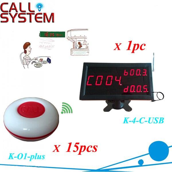 Table de thé commander le système de l'appelant 1 affichage se connecter au PC travailler avec 15 pièces 1-touche bouton