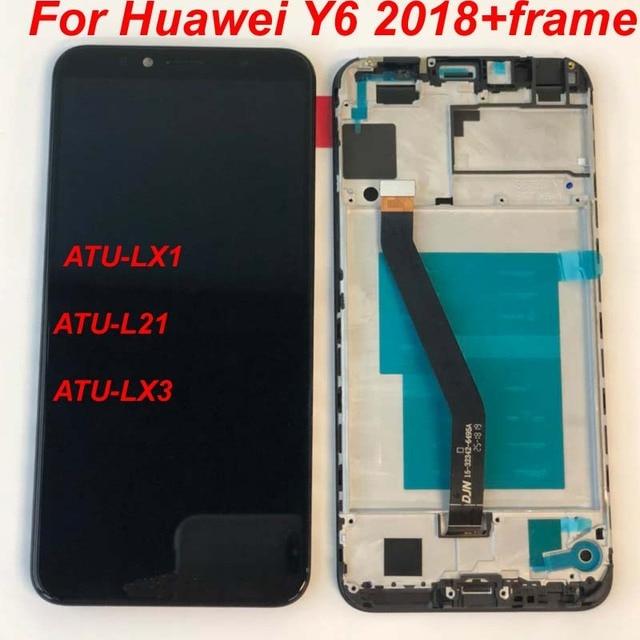 Original 5,7 pulgadas LCD para Huawei Y6 primer 2018 ATU-LX1/ATU-L21 ATU-L31 pantalla LCD + ASAMBLEA DE PANTALLA TÁCTIL digitalizador con marco